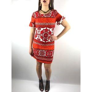 1960's mod kaleidoscope Hawaiian shift dress